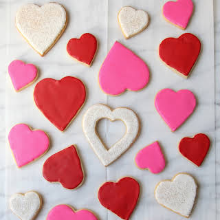 Iced Sugar Cookie Hearts.