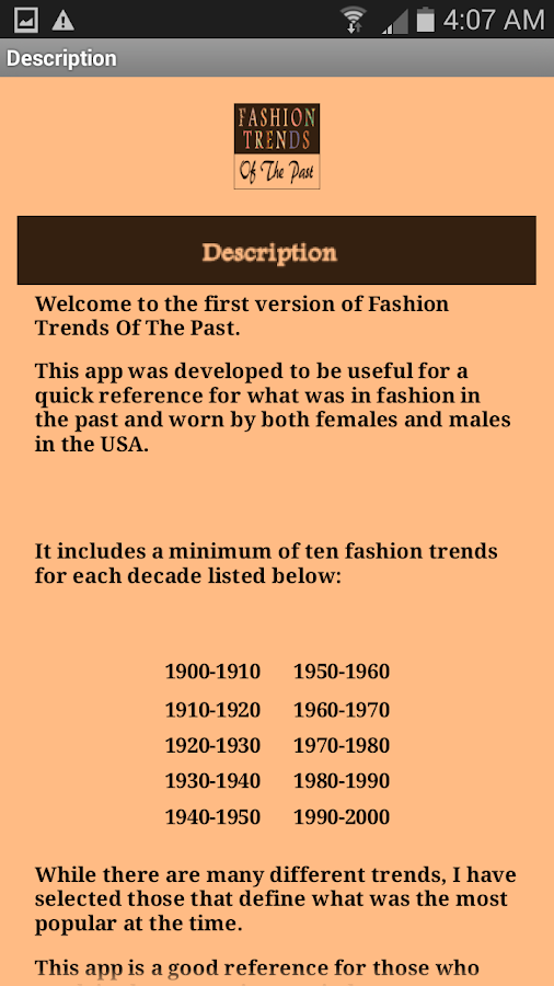 Fashion Trends Of The Past- screenshot