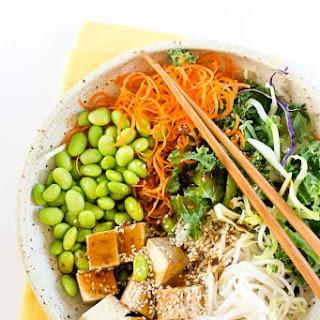 Asian Rice Noodle Bowl.