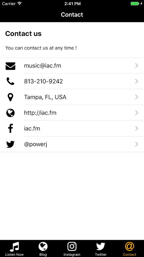 IAC.FM Radio- screenshot
