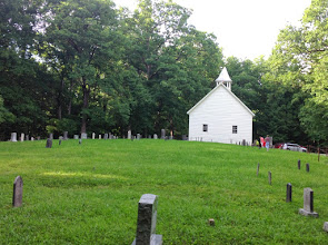Photo: From the back of the Primitive Baptist Church cemetery