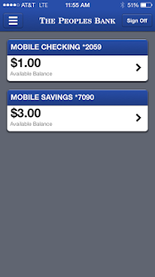 The Peoples Bank Mobile- screenshot thumbnail