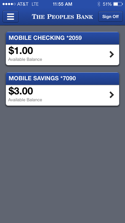 The Peoples Bank Mobile- screenshot