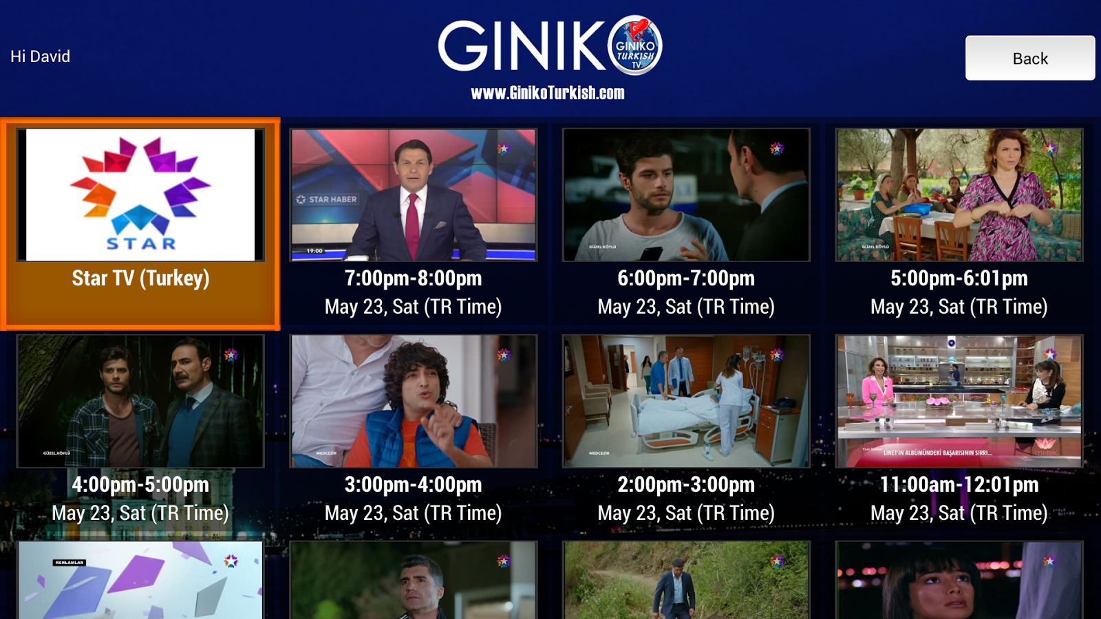 Giniko Turkish TV - Live & DVR- screenshot