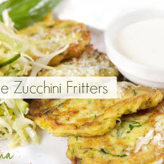 Gluten Free Zucchini Fritters (Pancakes).