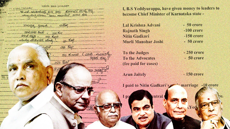 The Yeddy Diaries: Pages with IT note Rs 1,800 crore payoffs to BJP