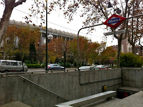 Photo: Oh hey, Santiago. Popping up from the metro for work. No pasa nada.