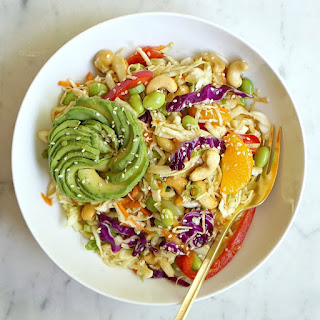 Asian Salad with Ginger Sesame Dressing.