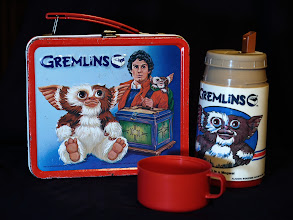 Photo: While digging around in cabinets for a coffee grinder to use on Monday's (awful) Ethiopian Free Trade coffee I found my son's lunchbox from 1984. 'Fess up, who else had one?