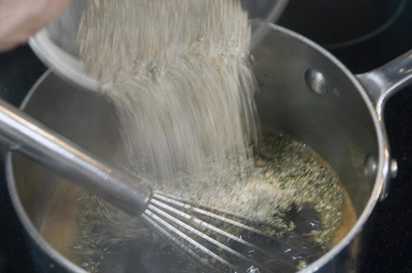 Add about 2.5 tablespoons of the dry spices, (don't forget the bay leaf) then...