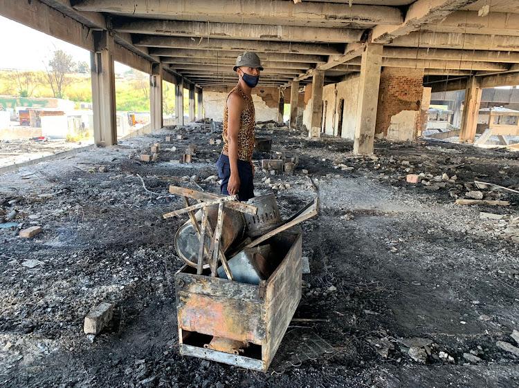 Phelelani Zulu, who works as a security guard in Germiston, said he lost everything in the blaze.