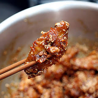 Sweet and Crispy Chicken Wings.