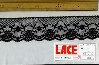 Photo: №5126-907ラッセル黒:巾60mm
