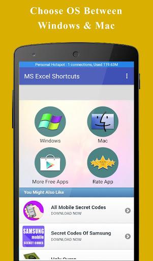 free download ms excel shortcut keys
