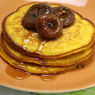 Pumpkin Pancakes with Figs.