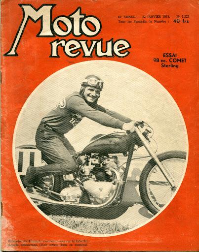 Moto Revue de 1955 présentant le record de Rich Richards et sa Triumph.