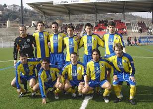 Photo: TEMPORADA 2007/08. MANRESA-0 PALAMOS-1. Arriba: Bayona, Jaime Martinez, Gallardo, Fran Jerez, Celaya y Cornella. Abajo: Deu, Garagarza, Elies, Diego y Vichu.