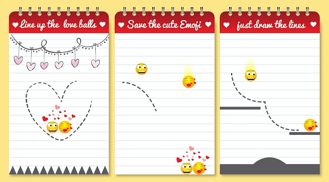 Love Balls : Draw lines