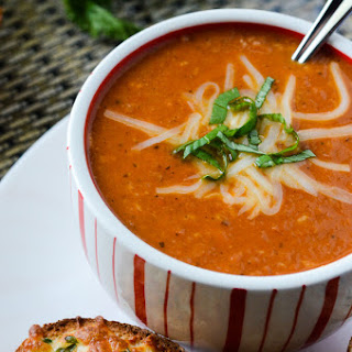 Crock Pot Roasted Tomato Bacon Bisque.