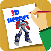 Draw 3D Movie Heroes