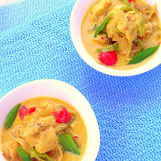 Pressure Cooked Coconut Fish Curry.