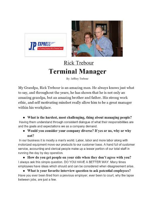 Manager Interview - Jeff Trebour