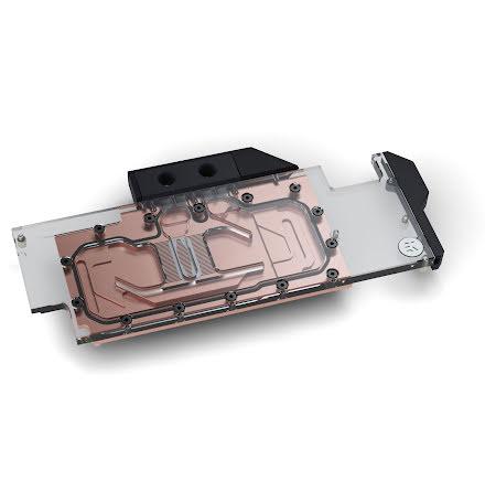 EK vannblokk for skjermkort, EK-Vector RTX RE Ti - Copper + Plexi