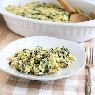 Spinach Artichoke Quinoa Casserole.