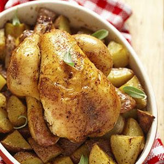 Roast Chicken, South African-Style.