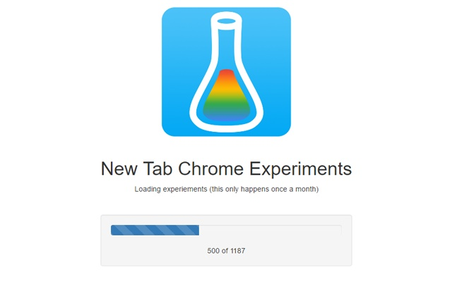 New Tab Chrome Experiments