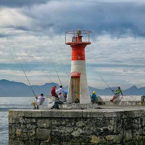 kalk bay light house by Randall Langenhoven - Buildings & Architecture Public & Historical ( fishermen, hdr, lighthouse, habor, capetown, historical )