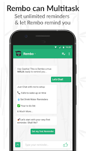 Rembo – Reminder, Alarm and To-Do Chatbot Apk Download For Android 3