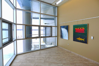 Photo: Two of Joyce's paintings on the first floor.