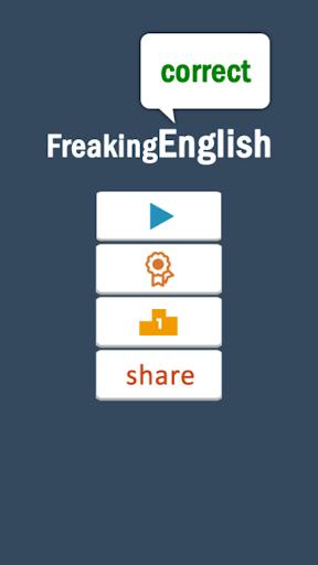 Freaking English