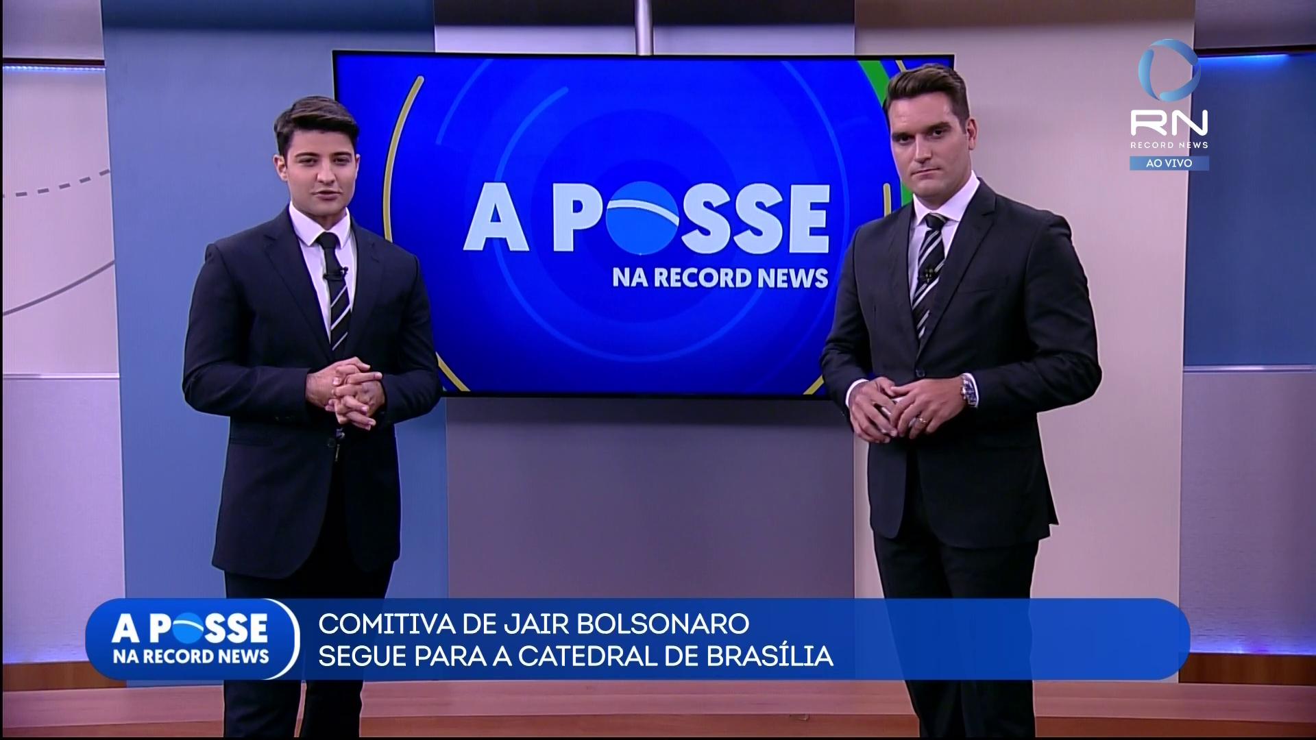 Rafael Algarte e Gustavo Toledo comandaram a transmissão da Posse presidencial na Record News