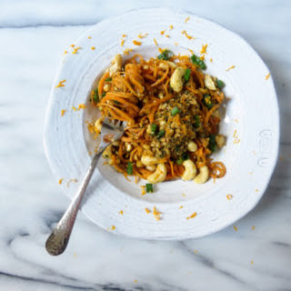 Sweet Potato Noodles with Thai Pesto.
