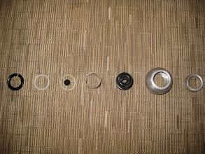 Photo: WEMAC eyeball vents disassembled for black anodizing.