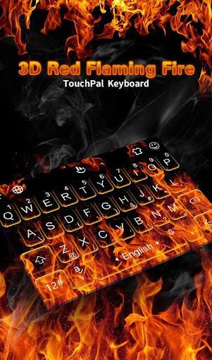 3D Flaming Fire Keyboard Theme 6.12.22.2018 screenshots 1