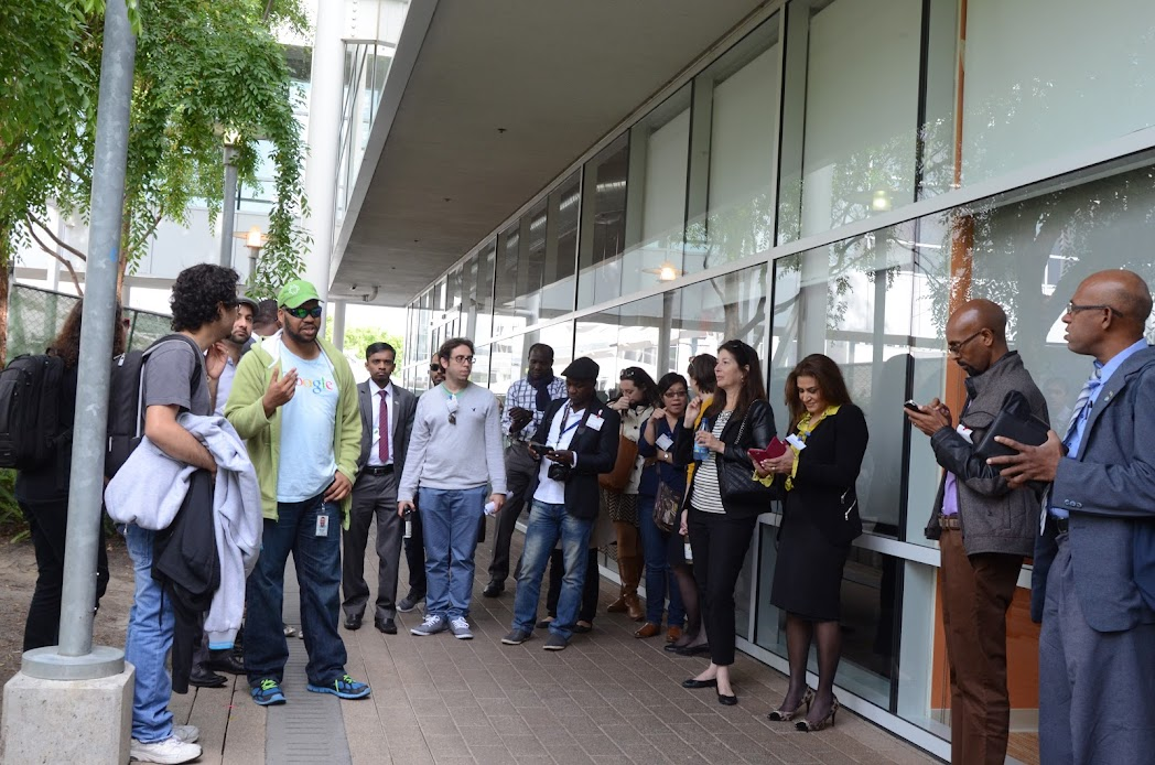 Inside Googleplex - an visit of IVLP fellows