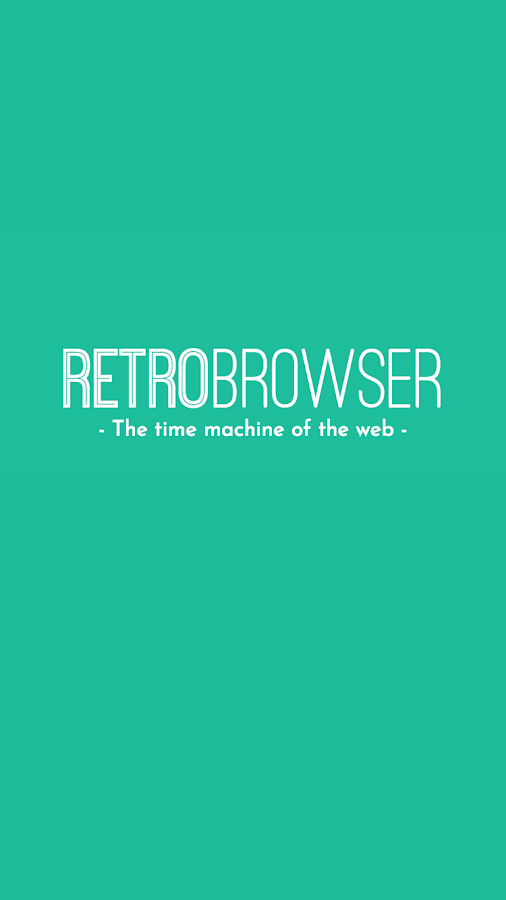 RetroBrowser - Time machine- screenshot