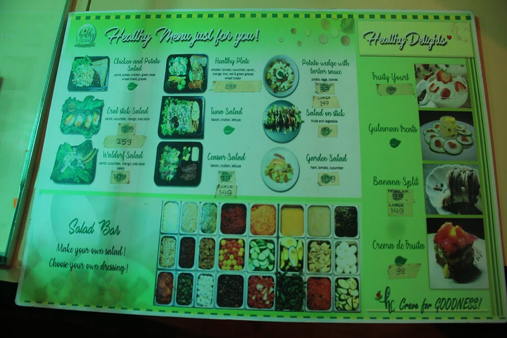Healthy Creations Menu