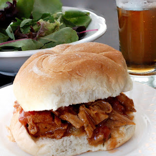 Slow Cooker Peach BBQ Pork