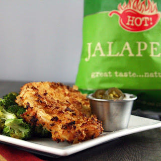 Jalapeno Kettle Chip Crusted Chicken with Jalapeno Ranch.