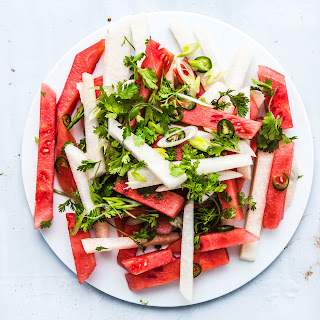 Watermelon and Jicama Salad with Jalapeño and Lime