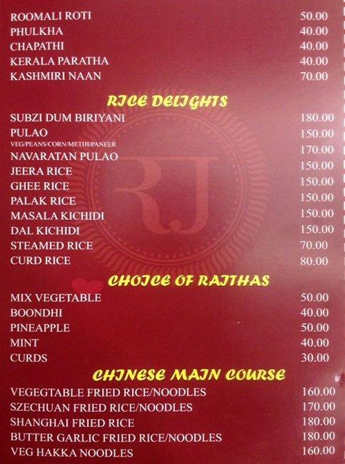 Rajesh Thindi Manae menu 7