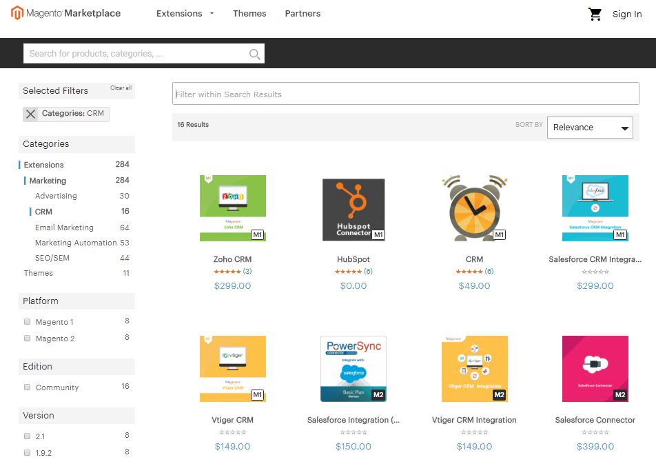 Magento B2B marketplace