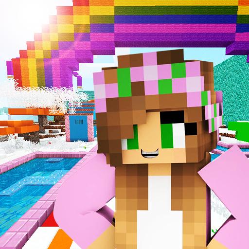 Pink World Minecraft Game for Girls