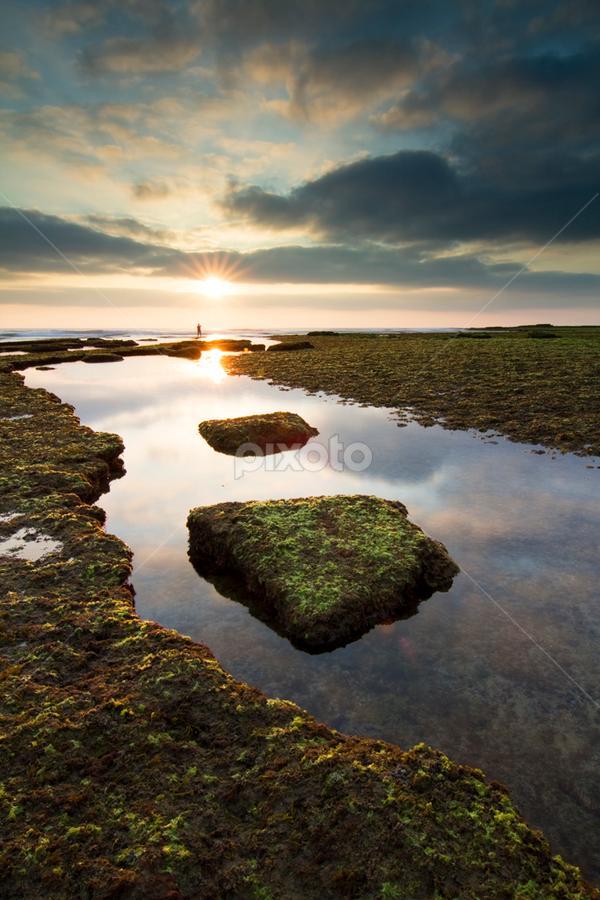 Between Worlds by Nuno Martins - Landscapes Beaches ( ericeira, ribeira de ilhas, beach, sunset, sillouettes, reflexes )
