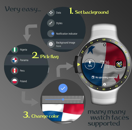 World Cup watch face background image complication  screenshots 2