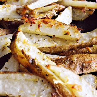 Italian Cheesy Garlic Steak Fries.